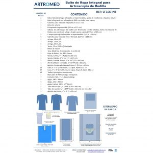 Bulto de Ropa Artroscopia de Rodilla Integral ARTROMED