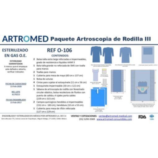 Bulto de Ropa Paquete Simple Artroscopia de Rodilla ARTROMED III O-106