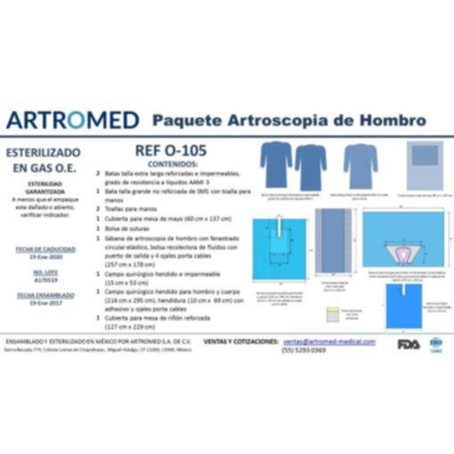 Bulto de Ropa para Artroscopia de Hombro Simple O-105