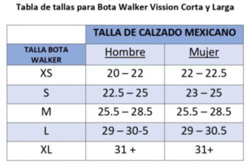 TALLA DE CALZADO MEXICANO BOTAS WALKER ALLARD