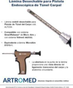 Cuchilla Estéril Desechable 81010 para Pistola Túnel del Carpo Microaire Smart Release 81014