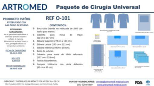O-101 Paquete de Cirugía Universal