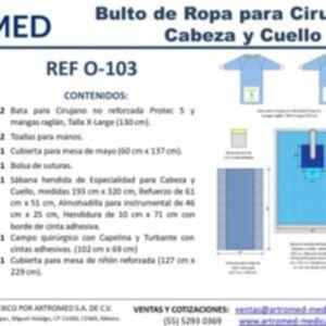 Bulto de Ropa Estèril Cirugía Cabeza y Cuello O-103 ARTROMED