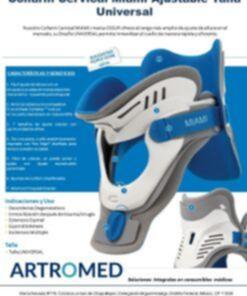 MJS-101 Collarin Cervical Miami Ajustable Talla Universal Características marca OSSUR