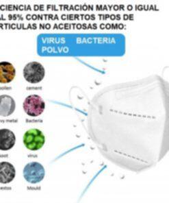 Cubrebocas KN95 Con Micro Filtro Respirador de Aire para Virus Bacteria Filtracion organismos